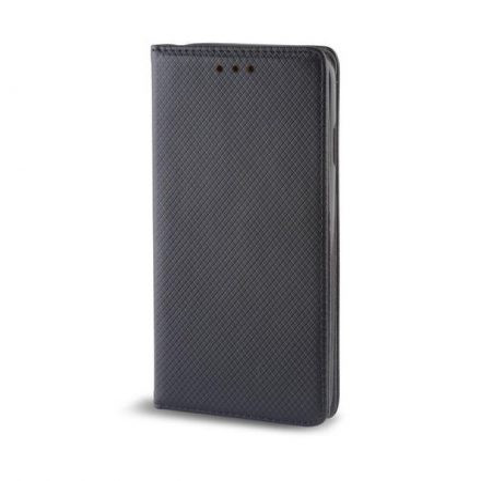 Smart magnet Huawei Honor 8X oldalra nyíló mágneses könyv tok szilikon belsővel fekete