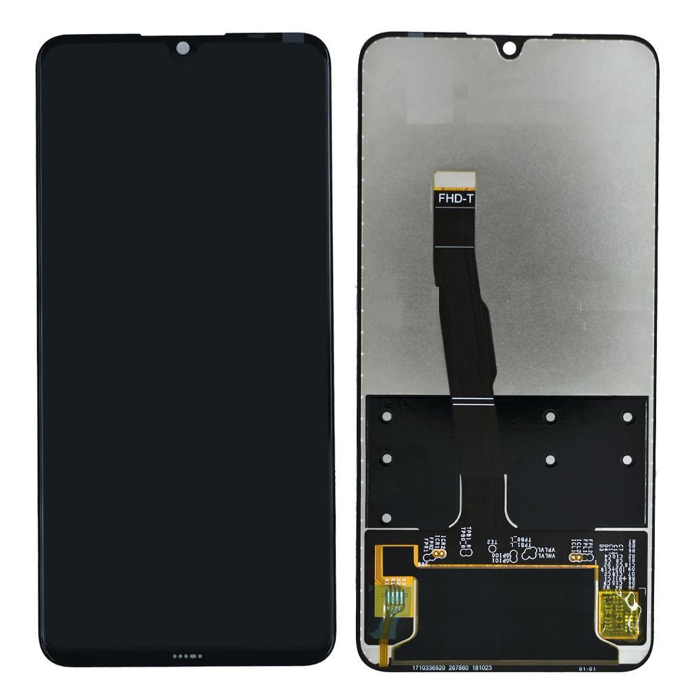 Huawei P30 Lite fekete LCD kijelző érintővel