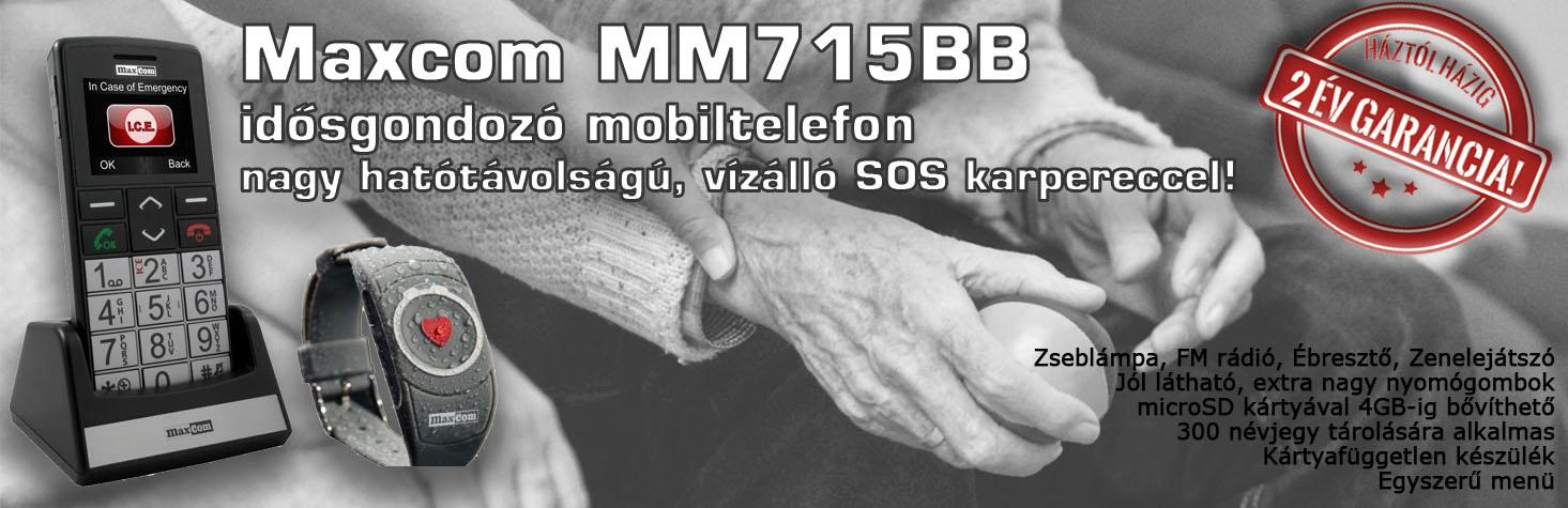 Maxcom MM715BB idősgondozó telefon!